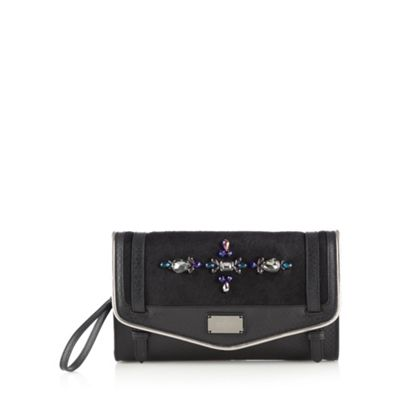 Butterfly by Matthew Williamson Designer black embellished envelope clutch - . -