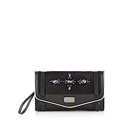 Butterfly by Matthew Williamson - Designer black embellished envelope clutch