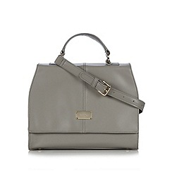 Butterfly by Matthew Williamson - Designer light grey structured satchel bag