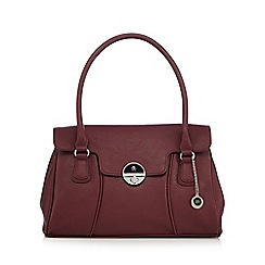The Collection - Red wine twist lock shoulder bag