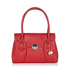 The Collection - Red twist lock shoulder bag