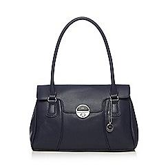 The Collection - Navy twist lock shoulder bag