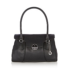 The Collection - Black twist lock shoulder bag