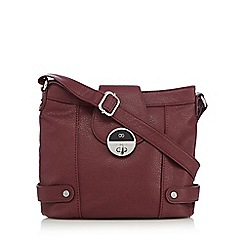 The Collection - Red wine twist lock cross body bag