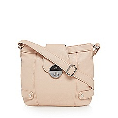 The Collection - Light pink twist lock cross body bag