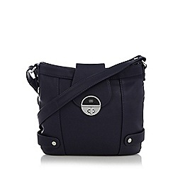 The Collection - Navy twist lock cross body bag