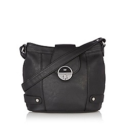 The Collection - Black twist lock cross body bag