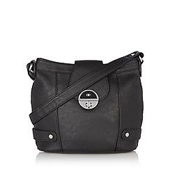 The Collection - Black twist lock cross body bag