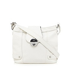 The Collection - White twist lock cross body bag
