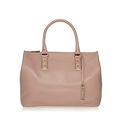 J by Jasper Conran - Designer pink leather square large grab bag