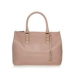 J by Jasper Conran - Designer pink leather square large grab bag