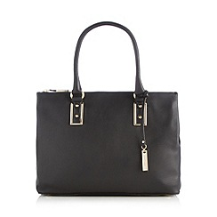 J by Jasper Conran - Designer black leather grab bag