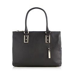 J by Jasper Conran - Designer black leather grab bag
