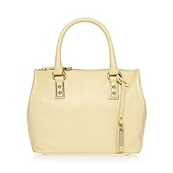 J by Jasper Conran - Designer light yellow leather square small grab bag