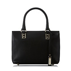 J by Jasper Conran - Designer black leather plain grab bag