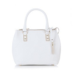 J by Jasper Conran - Designer white leather mock croc side small grab bag
