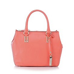 J by Jasper Conran - Designer coral leather mock croc side small grab bag