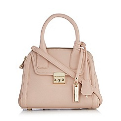 J by Jasper Conran - Designer pale pink leather double zip small grab bag
