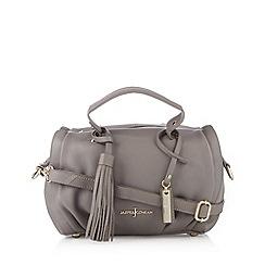 J by Jasper Conran - Designer light grey leather tassel bowler bag