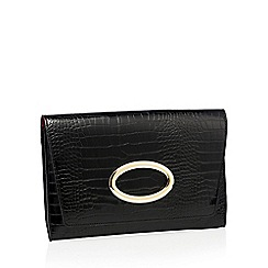 J by Jasper Conran - Designer black leather scalene grab bag
