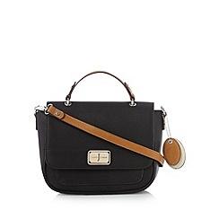 J by Jasper Conran - Designer black enamel logo satchel bag