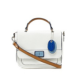 J by Jasper Conran - White enamel plate satchel bag