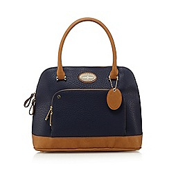 J by Jasper Conran - Navy zip pocket large kettle bag