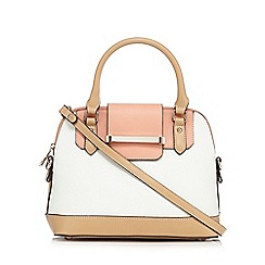 J by Jasper Conran - White colour block grab bag