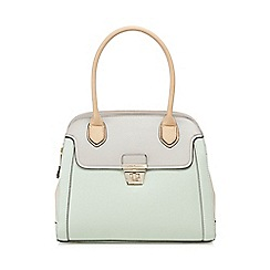 J by Jasper Conran - Light green colour-block tote bag
