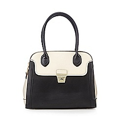 J by Jasper Conran - Designer black colour block double zip dome bag