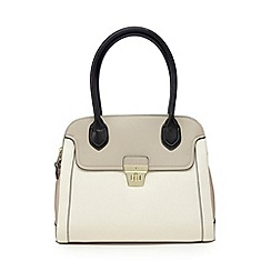 J by Jasper Conran - Designer cream double zip colour block grab bag