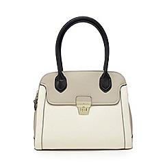 J by Jasper Conran - Designer cream double zip colour block grab bag