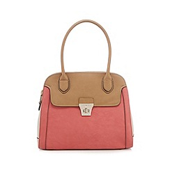 J by Jasper Conran - Coral colour block tote bag