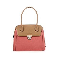 J by Jasper Conran - Coral colour block tote bag
