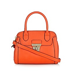 J by Jasper Conran - Designer orange double zip dome bag