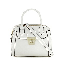 J by Jasper Conran - Designer white double zip small grab bag