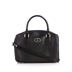 J by Jasper Conran - Designer black mock croc large grab bag