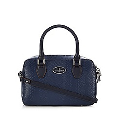 J by Jasper Conran - Designer navy small boxy bowler bag