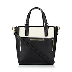 J by Jasper Conran - Designer black crosshatch grab bag