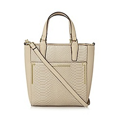J by Jasper Conran - Designer cream snakeskin grab bag