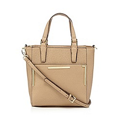 J by Jasper Conran - Designer dark cream crosshatch grab bag