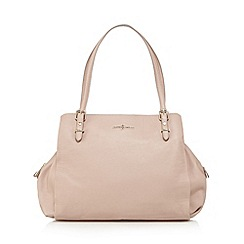 J by Jasper Conran - Designer pale pink leather triple compartment work bag