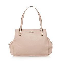 J by Jasper Conran - Designer pale pink leather triple compartment work bag