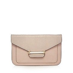 J by Jasper Conran - Designer pink enamel bar clutch bag
