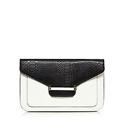 J by Jasper Conran - Designer white enamel bar clutch bag