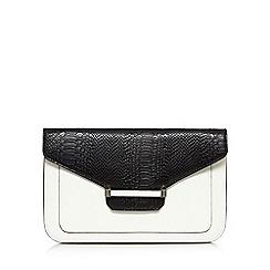 J by Jasper Conran - Designer white enamel bar clutch bag