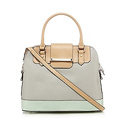 J by Jasper Conran - Pale grey colour block grab bag