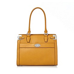 J by Jasper Conran - Yellow metal corner tote bag