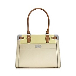 J by Jasper Conran - Designer pale yellow colour block grab bag
