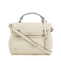 J by Jasper Conran - Designer cream leather belted mini cross body bag